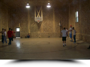 Indoor basketball court in Wyoming